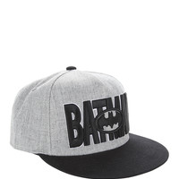 DC Comics Batman Grey Black Logos Snapback Hat