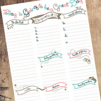 Daily Planner, Daily Agenda, Organizer, To-Do List, Planner Pages, Printable,