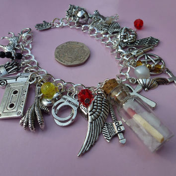 Supernatural Charm Bracelet - Featuring 30 Charms including Vial of Rock Salt and Match