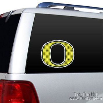 "Oregon Ducks Large 12"" Perforated Glass Window Film Decal University of"
