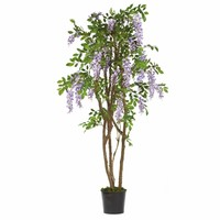 SheilaShrubs.com: Purple 5' Wisteria Silk Tree 5015-PP by Nearly Natural : Artificial Flowers & Plants