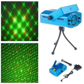 DCK9M2 New Blue Mini Projector Red &Green DJ Disco Light Stage Xmas Party Laser Lighting Show, Free & Drop Shipping