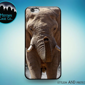 Majestic African Elephant Face Eyes Trunk Tusks Rubber Case for iPhone 7 Plus iPhone 7 iPhone 6s 6 Plus iPhone 6s 6 iPhone 5s 5 5c iPhone SE