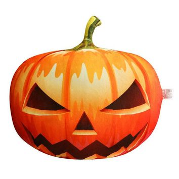 Halloween Pumpkin Pillow Creative Plush Toy Home Vegetable Fruit Decoration Cushion Company Activity Gift Hat Pumpkin for Childr
