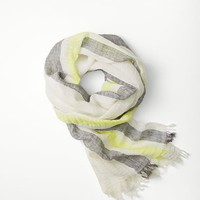 Rag & Bone - Lawn Scarf, Limelight Size ONE