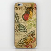 French Butterfly Collage Clear iPhone Case by digitaleffects