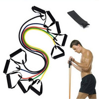 Resistance Training Bands Tube Workout Exercise for Yoga Fashion Body Building Fitness Equipment Tool Equipment [8069650567]