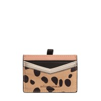 Alexis Leather Card Holder (Tan Smooth Leopard)