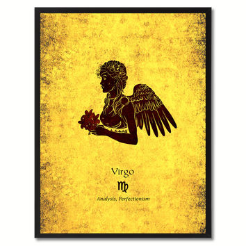 Virgo Horoscope Astrology Canvas Print, Picture Frame Home Decor Wall Art Gift