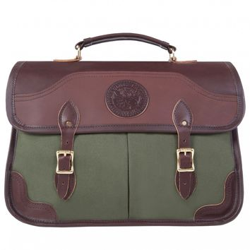 EXECUTIVE LEATHER AND CANVAS BRIEFCASE