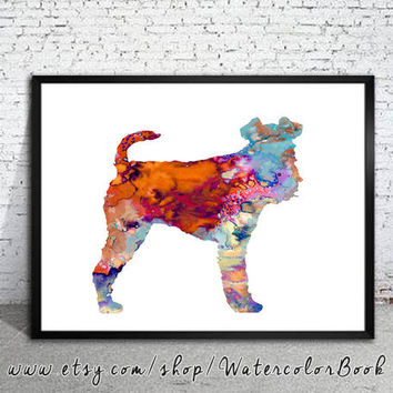 Fox Terrier 2 Watercolor Print, Fox Terrier art, Home Decor, dog watercolor, watercolor painting, animal watercolor, dog art, dog poster