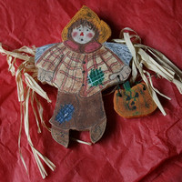 scarecrow pin by rocksntwigs on Etsy