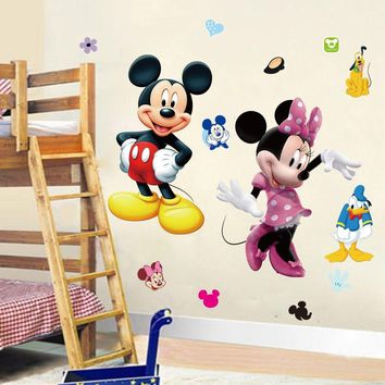 minie Mouse Minnie Vinyl Mural Wall Sticker Decals Kids Nursery Room Decor