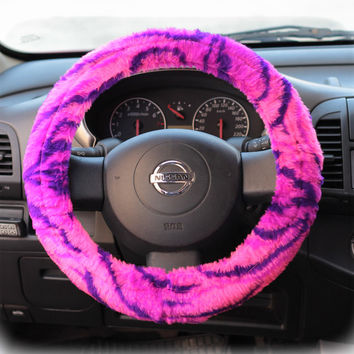 Steering Wheel Cover Bow Wheel Car Accessories Lilly Heated For Girls Interior Aztec Monogram Camo Cheetah Sterling Chevron Violet Tiger