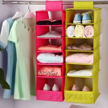 Hanging Box Underwear Sorting Clothing Shoe Jean Storage Mails Door Wall Closet Organi