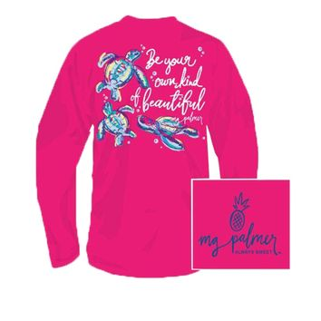 YOUTH Be YOU Tiful Long Sleeve Tee in Heliconia by MG Palmer