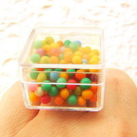 Kawaii Candy Ring Miniature Food Jewelry by SouZouCreations