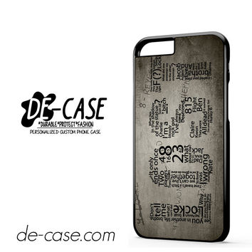 Lost TV Series Quotes Game DEAL-6651 Apple Phonecase Cover For Iphone 6 / 6S