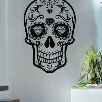 Sugar Skull Version 7 Art Decal Sticker Wall Vinyl