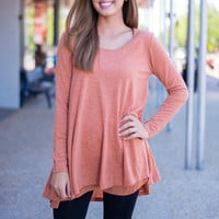 Lightly Layered Top, Rust