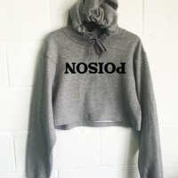 Poison Cropped Hoodie