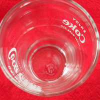 VINTAGE 1950's COKE Glasses / Made in Canada and Marked R W / 18 of 4 Inch Coke Glasses / Fountain Coke Glasses