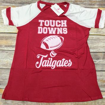 Touch Downs & Tailgates! Short sleeve Football Tee!