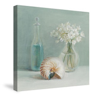 White Flower Spa Canvas Wall Art