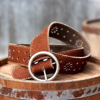 Free Shipping - Leather Belt - Women's Leather Belt - in BROWN