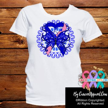 Male Breast Cancer Stunning Butterfly Shirts