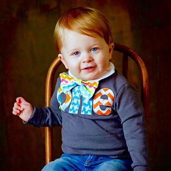 Dappper one 1st Birthday Shirt kids navy long sleeves boy with multi argyle, aqua airplane, orange chevron Boys Party - bow tie not included