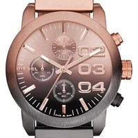 Women's DIESEL 'Flare' Chronograph Bracelet Watch, 40mm - Rose Gold/ Gunmetal