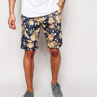 Denim & Supply Ralph Lauren Chino Shorts with Floral Print