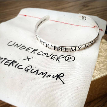 """UNDERCOVER"" Fashion Retro Engraved Letter Unisex Open Bracelet Couple Bracelet Jewelry"