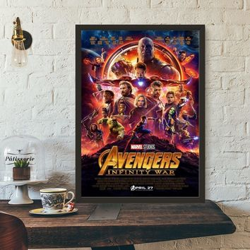 Avengers Infinity War Movie Poster Wall Art Wall Decor Silk Prints Art Poster Paintings For Living Room No Frame