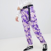 RIPNDIP Cuffed Trousers In Camo Co-Ord at asos.com