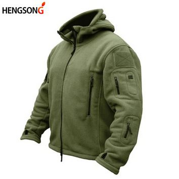 Winter Military Fleece Jacket Warm Men Tactical Jacket Thermal Breathable Hooded Men Jackets And Coat Outerwear Clothes AQ907282