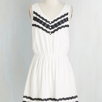 Mid-length Sleeveless A-line Just to Be Shore Dress by ModCloth
