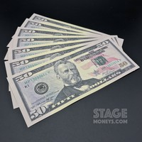 7x $50 Bills - $350 - New Style Prop Money