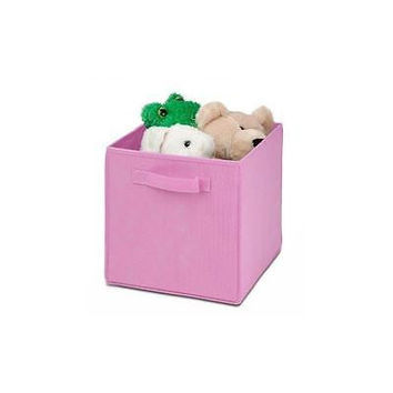Honey Can Do Kids Storage Bins, Soft And Foldable Organizer-Pink