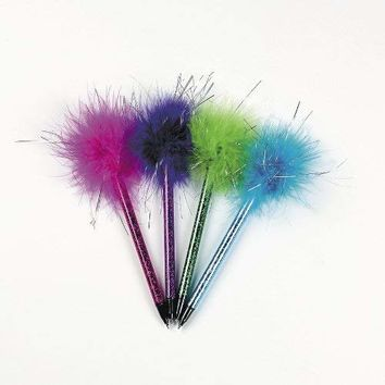 Fun Express Marabou Pens (2 Dozen) | Children's School Supplies & Party Favors