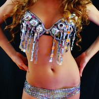 Go go dance costume made of disco balls and mirrors disco superstar