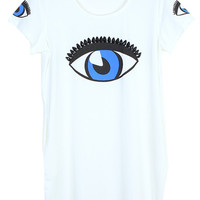 ROMWE Single Eye Pocketed White Dress