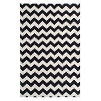 Zig Zag Dhurrie Rug - Black / Ivory | Area-rugs | Decor | Z Gallerie