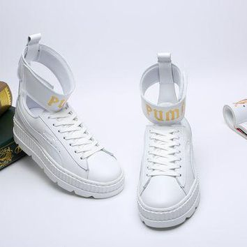 DCCKIG3 Puma/ Fenty Rihanna High Top Sneaker Color White