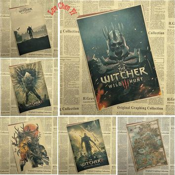 The Witcher 2 Classic Game  Kraft Paper Poster Bar Cafe  Interior Decoration painting Free Shipping