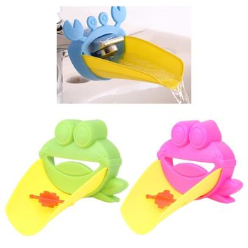 Brand Cartoon Frog Sink Extension Faucet Kids Children Washing Hand Guide Water Faucet Extender Baby Care Bathroon Accessory