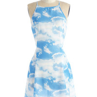 ModCloth Vintage Inspired Mid-length Sleeveless A-line Sky's the Limitless Dress