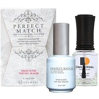 LeChat Perfect Match Gel / Lacquer Combo - High Gloss Top Gel Sealer 0.5 oz - #PMT03