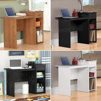 Small Computer Desk Office Laptop Table Study Dorm Workstation Oak White Black